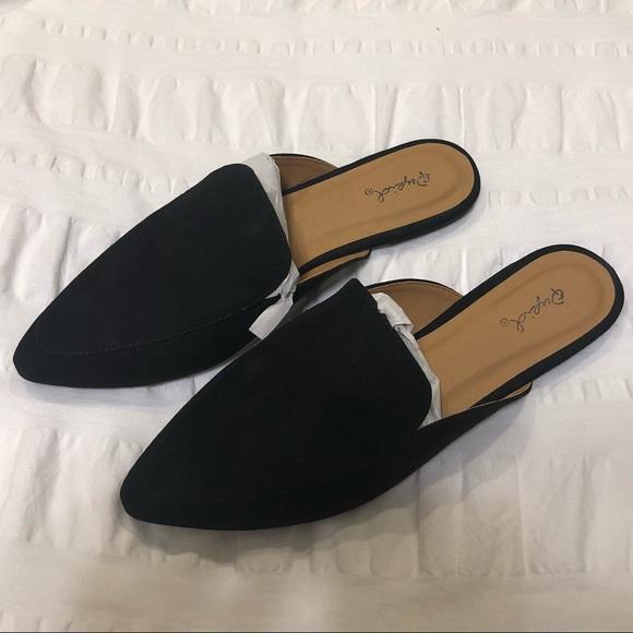 Qupid Shoes | Qupid Swirl Black Mule